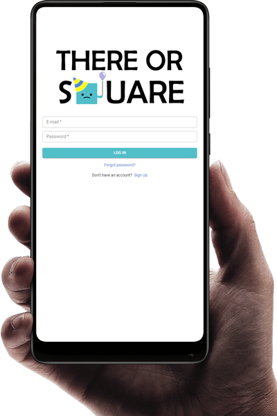 ThereOrSquare login mobile frame
